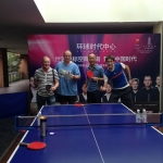 The boys taking time to have a game of table tennis in Chengdu